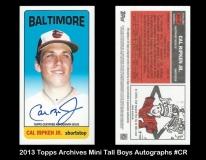 2013 Topps Archives Mini Tall Boys Autographs #CR