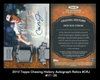 2013 Topps Chasing History Autograph Relics #CRJ
