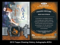 2013 Topps Chasing History Autographs #CRJ