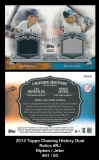 2013 Topps Chasing History Dual Relics #RJ