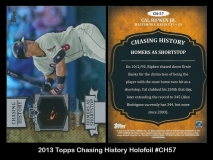 2013 Topps Chasing History Holofoil #CH57