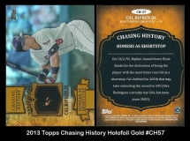 2013 Topps Chasing History Holofoil Gold #CH57