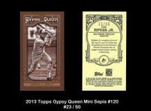 2013 Topps Gypsy Queen Mini Sepia #120