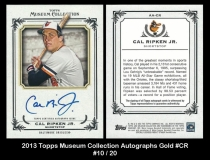 2013 Topps Museum Collection Autographs Gold #CR