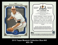 2013 Topps Museum Collection Blue #43