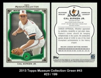 2013 Topps Museum Collection Green #43