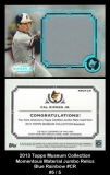 2013 Topps Museum Collection Momentous Material Jumbo Relics Blue Rainbow #CR