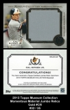 2013 Topps Museum Collection Momentous Material Jumbo Relics Gold #CR