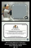 2013 Topps Museum Collection Momentous Material Jumbo Relics Silver Rainbow #CR