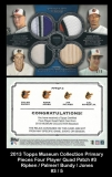 2013 Topps Museum Collection Primary Pieces Four Player Quad Patch #3