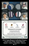 2013 Topps Museum Collection Primary Pieces Four Player Quad Patch #7