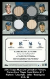 2013 Topps Museum Collection Primary Pieces Four Player Quad Relics #11