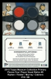 2013 Topps Museum Collection Primary Pieces Four Player Quad Relics #5
