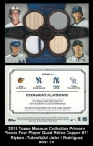 2013 Topps Museum Collection Primary Pieces Four Player Quad Relics Copper #11