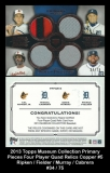 2013 Topps Museum Collection Primary Pieces Four Player Quad Relics Copper #5