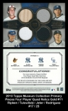 2013 Topps Museum Collection Primary Pieces Four Player Quad Relics Gold #11