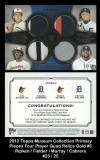 2013 Topps Museum Collection Primary Pieces Four Player Quad Relics Gold #5