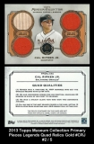 2013 Topps Museum Collection Primary Pieces Legends Quad Relics Gold #CRJ