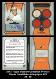 2013 Topps Museum Collection Primary Pieces Quad Relic Autographs #CR