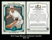 2013 Topps Museum Collection Teal #43