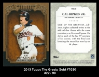2013 Topps The Greats Gold #TG30