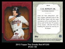 2013 Topps The Greats Red #TG30