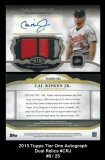 2013 Topps Tier One Autograph Dual Relics #CRJ
