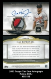 2013 Topps Tier One Autograph Relics #CRJ