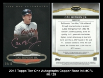 2013 Topps Tier One Autographs Copper Rose Ink #CRJ