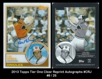 2013 Topps Tier One Clear Reprint Autographs #CRJ