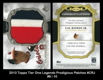 2013 Topps Tier One Legends Prodigious Patches #CRJ