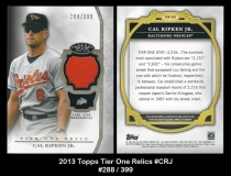 2013 Topps Tier One Relics #CRJ
