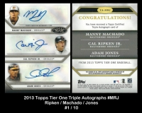 2013 Topps Tier One Triple Autographs #MRJ