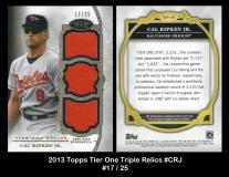 2013 Topps Tier One Triple Relics #CRJ