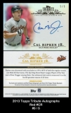 2013 Topps Tribute Autographs Red #CR
