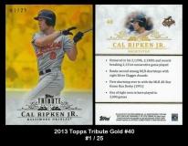 2013 Topps Tribute Gold #40