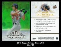 2013 Topps Tribute Green #40