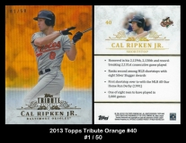 2013 Topps Tribute Orange #40