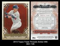 2013 Topps Triple Threads Amber #45