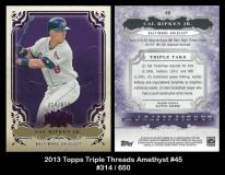 2013 Topps Triple Threads Amethyst #45
