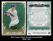 2013 Topps Triple Threads Emerald #45