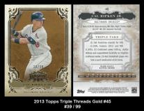 2013 Topps Triple Threads Gold #45