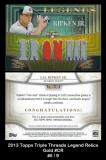 2013 Topps Triple Threads Legend Relics Gold #CR