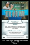2013 Topps Triple Threads Legend Relics Sapphire #CR