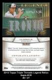 2013 Topps Triple Threads Legend Relics Sepia #CR