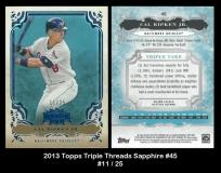 2013 Topps Triple Threads Sapphire #45