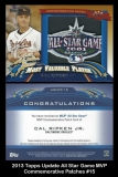 2013 Topps Update All Star Game MVP Commemorative Patches #15