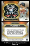 2013 Topps Update League Leaders Pins #CR