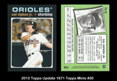 2013 Topps Update Mini 1971 Topps Minis #30