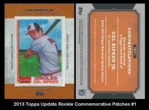 2013 Topps Update Rookie Commemorative Patches #1